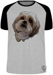 Camiseta Raglan Shih-tzu fofo