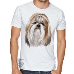 Camiseta Shih-tzu pintura