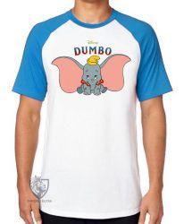 Camiseta Raglan Dumbo desenho