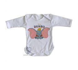 Roupa Bebê manga longa  Dumbo desenho