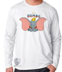 Camiseta Manga Longa Dumbo desenho
