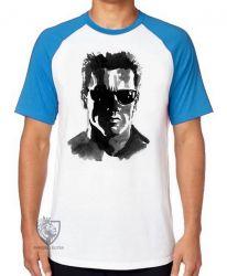 Camiseta Raglan Exterminador do Futuro pintura