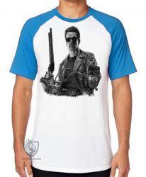 Camiseta Raglan Exterminador do Futuro moto
