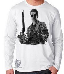 Camiseta Manga Longa Exterminador do Futuro moto