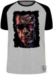 Camiseta Raglan Exterminador do Futuro máquinas