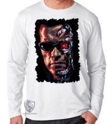 Camiseta Manga Longa Exterminador do Futuro máquinas