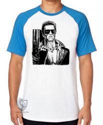 Camiseta Raglan Exterminador do Futuro arma