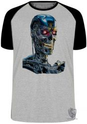 Camiseta Raglan Exterminador do Futuro T800