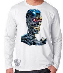 Camiseta Manga Longa Exterminador do Futuro T800