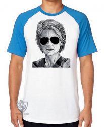 Camiseta Raglan Exterminador do Futuro Sarah Connor II