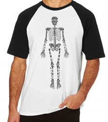 Camiseta Esqueleto  tamanho M