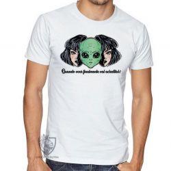 Camiseta  Aliens Quando você vai acreditar