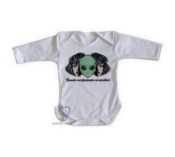 Roupa Bebê manga longa Aliens Quando você vai acreditar