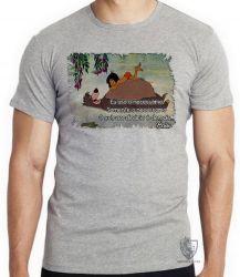 Camiseta Infantil Baloo Mogli Extraordinário
