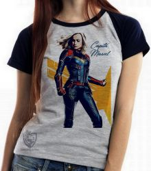 Blusa Feminina Capitã Marvel Carol Danvers