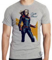 Camiseta Infantil Capitã Marvel Carol Danvers