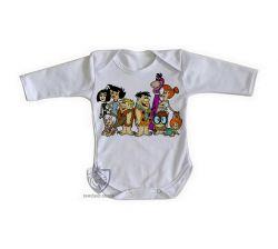 Roupa Bebê manga longa  Flinstones desenhado