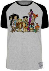 Camiseta Raglan  Flinstones desenhado