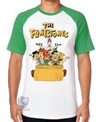 Camiseta Raglan  Flinstones carro