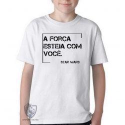 Camiseta Infantil Frase Star Wars