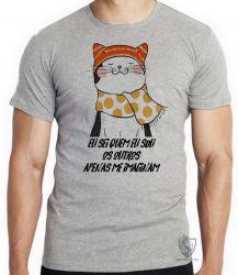 Camiseta Gato eu sei quem eu sou