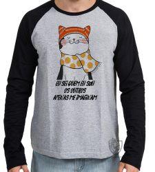 Camiseta Manga Longa Gato eu sei quem eu sou