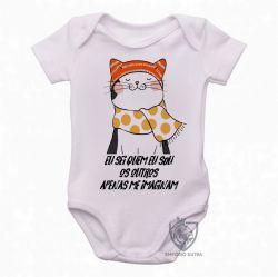 Roupa  Bebê Gato eu sei quem eu sou