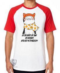 Camiseta Raglan Gato eu sei quem eu sou