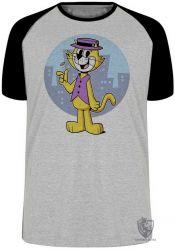 Camiseta Raglan Gato Manda Chuva