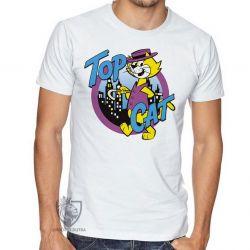 Camiseta  Gato Manda Chuva Top Cat