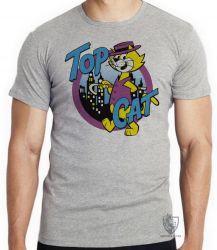 Camiseta Infantil  Gato Manda Chuva Top Cat
