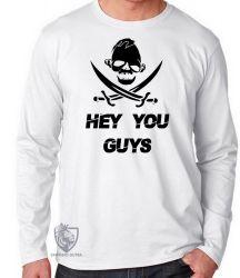 Camiseta Manga Longa  Goonies Sloth hey you guys