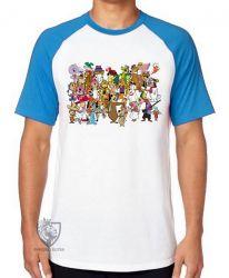 Camiseta Raglan Hanna Barbera personagens II