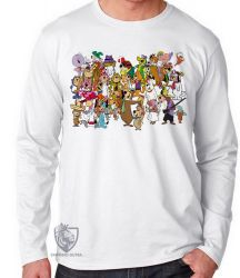 Camiseta Manga Longa Hanna Barbera personagens II