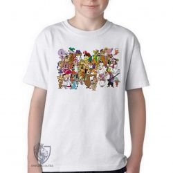 Camiseta Infantil  Hanna Barbera personagens II