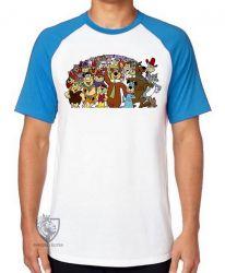 Camiseta Raglan Hanna Barbera personagens IV