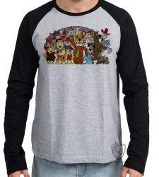 Camiseta Manga Longa Hanna Barbera personagens IV