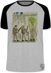 Camiseta Raglan Hieróglifos Caça Fantasmas