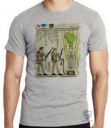 Camiseta Infantil Hieróglifos Caça Fantasmas
