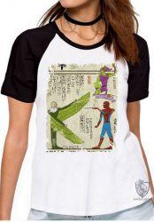 Blusa Feminina  Hieróglifos Homem Aranha