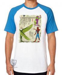 Camiseta Raglan Hieróglifos Homem Aranha
