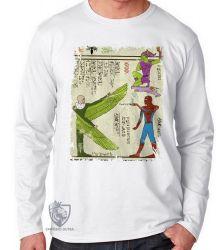 Camiseta Manga Longa Hieróglifos Homem Aranha