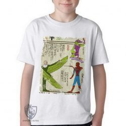 Camiseta Infantil Hieróglifos Homem Aranha