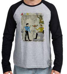Camiseta Manga Longa Hieróglifos Star Trek