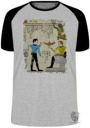 Camiseta Raglan Hieróglifos Star Trek