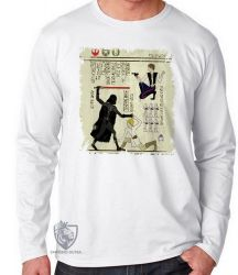 Camiseta Manga Longa Hieróglifos Star Wars