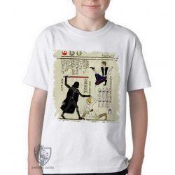 Camiseta Infantil Hieróglifos Star Wars