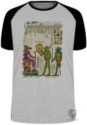 Camiseta Raglan Hieróglifos Tartarugas Ninjas