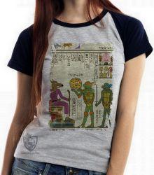Blusa Feminina  Hieróglifos Tartarugas Ninjas