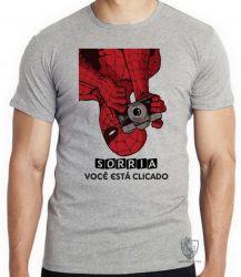 Camiseta Infantil Homem Aranha foto